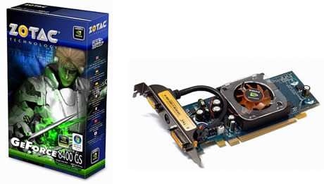Zotac 8400GS 512MB DDR2 VGA DVI TV Out PCI-E Graphics Card